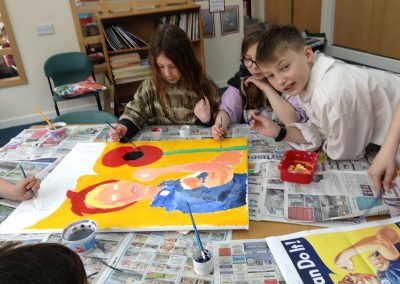 Year 6 World War One Art with Lisa Johnstone